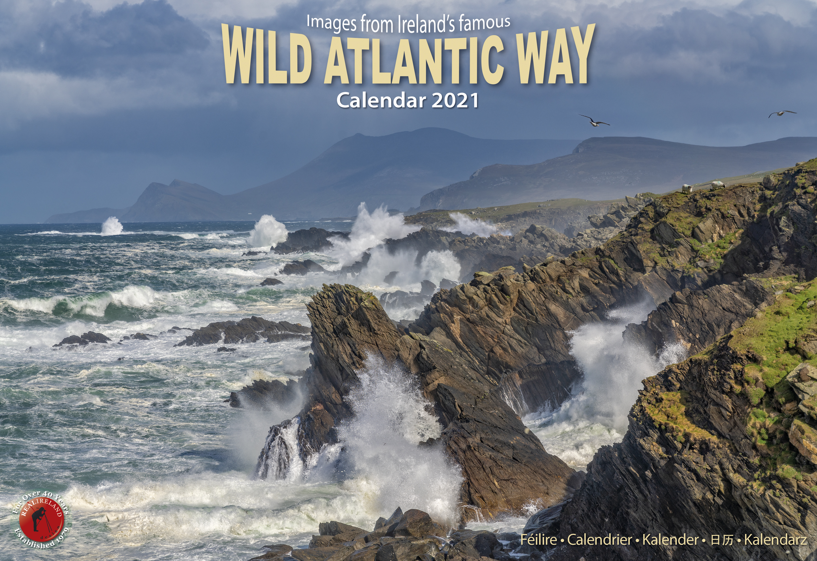 Wild Atlantic Way Calendar 2021   Real Ireland A4   Bookstation